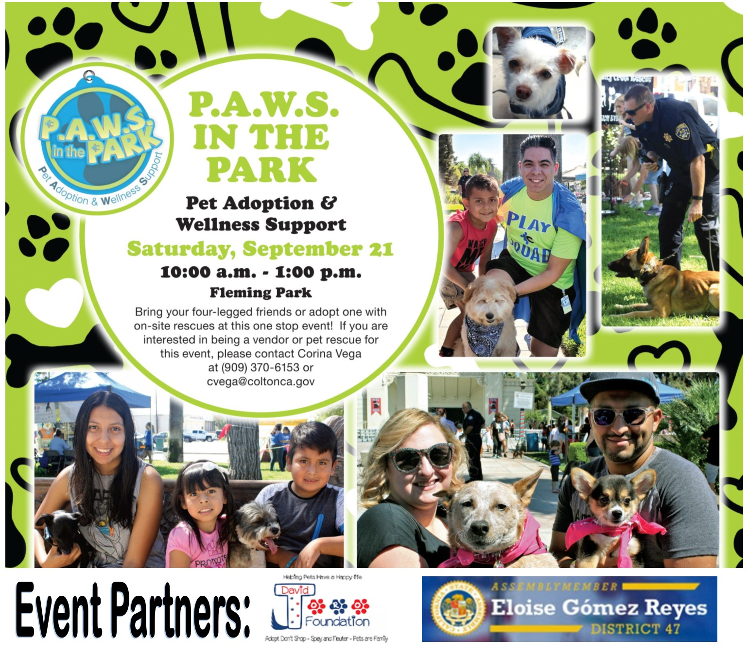 PAWS in the Park Flyer