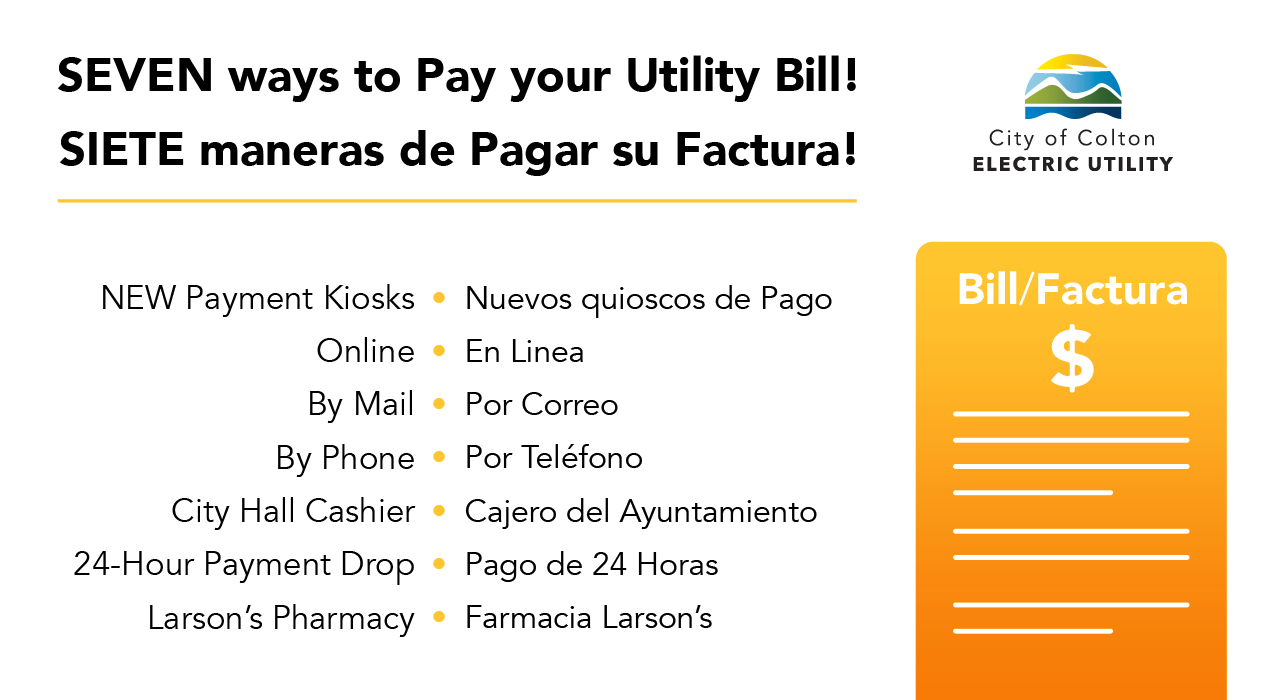 Seven ways to pay your utility bill