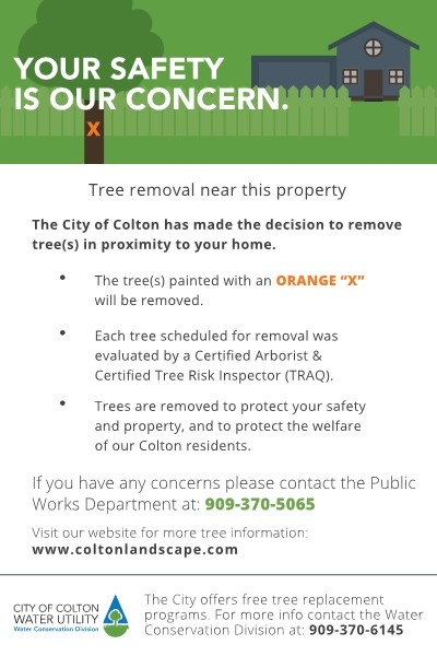 Tree removal flyer