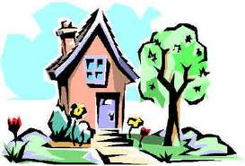A cartoon depiction of a house