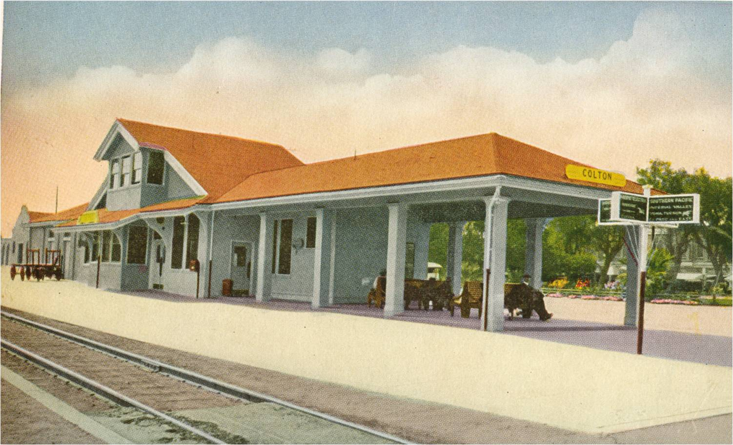 Southern Pacific RR Depot_Color Tinted