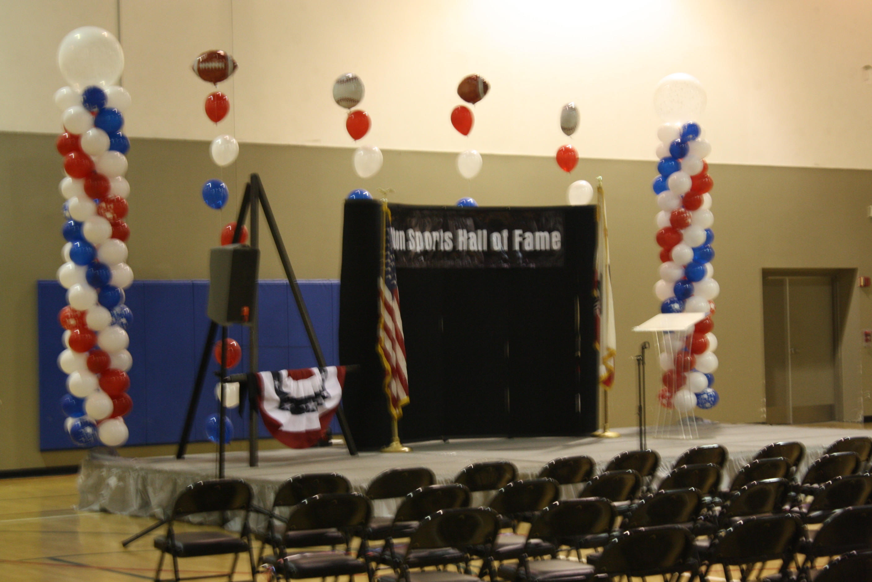 Stage within the gym