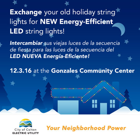 Exchange your Old Holiday String Lights for New Energy-Efficient LED String Lights