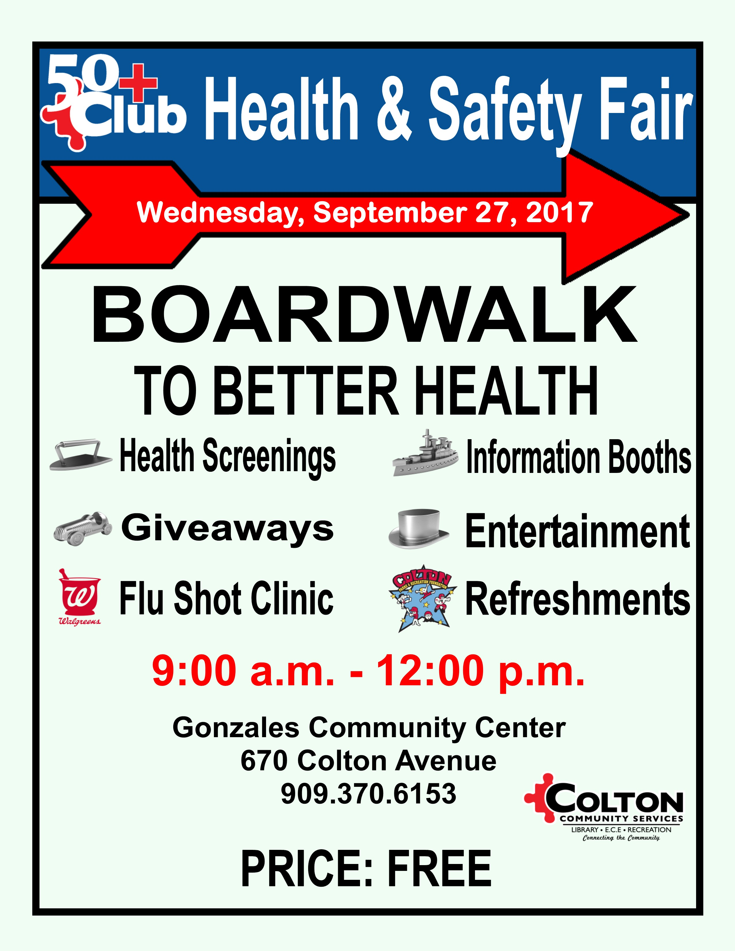 50 Plus Club Annual Health and Safety Fair Wednesday, September 27, 2017